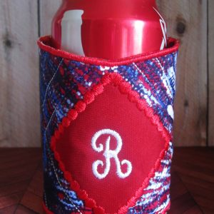 Diamond Monogram Koozie In The Hoop