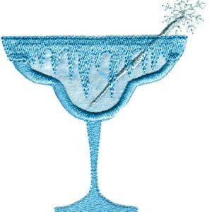 Christmas Cocktails Applique Single 04