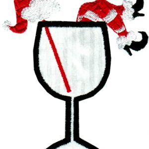 Christmas Cocktails Applique Single 06
