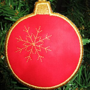 Snowflake Ornament Coaster In The Hoop