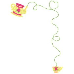 Teapot and Cup Border