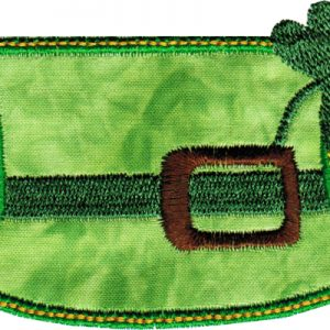 St. Patty Applique Hat with Clover - 4x4