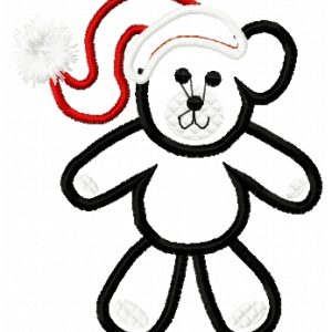 Christmas Teddy Bear applique
