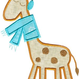 Winter Giraffe Applique