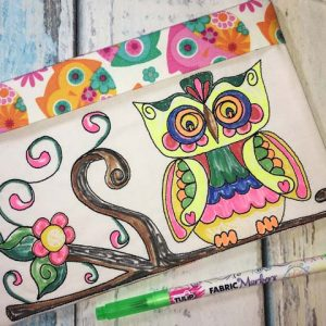 Coloring Book Zipper Bag In The Hoop - Owl