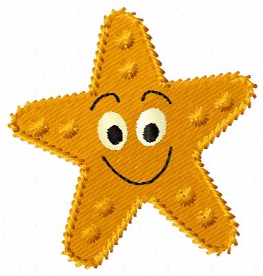 star fish embroidery design