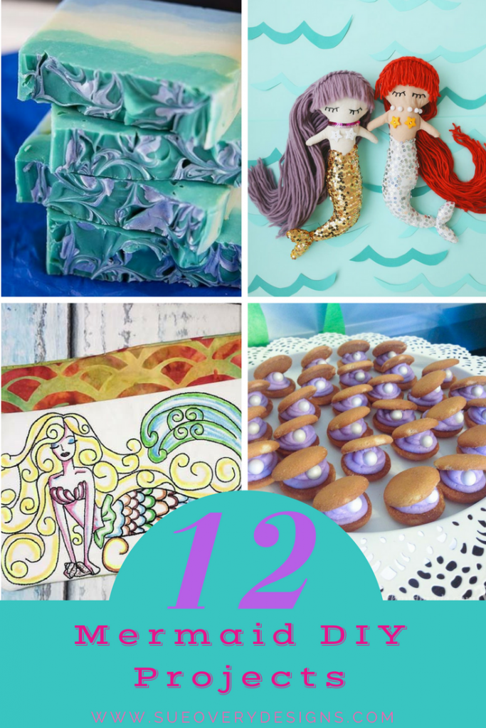 mermaid diy projects sue overy designs